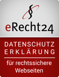 eRecht24 Datenschutzerklärung Siegel