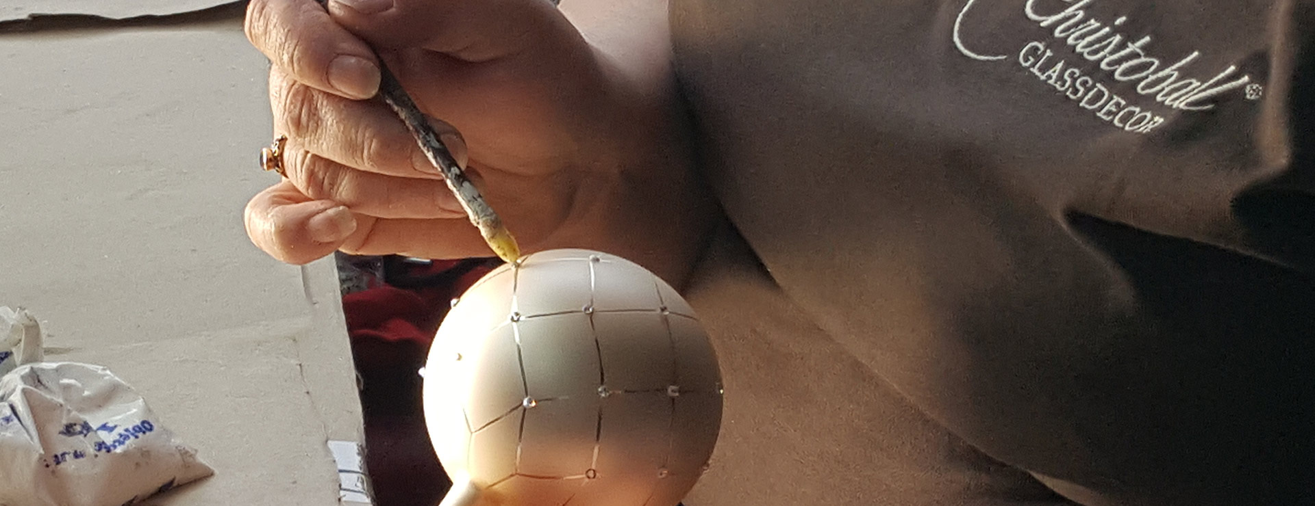 Hand-Painted Christmas Balls
