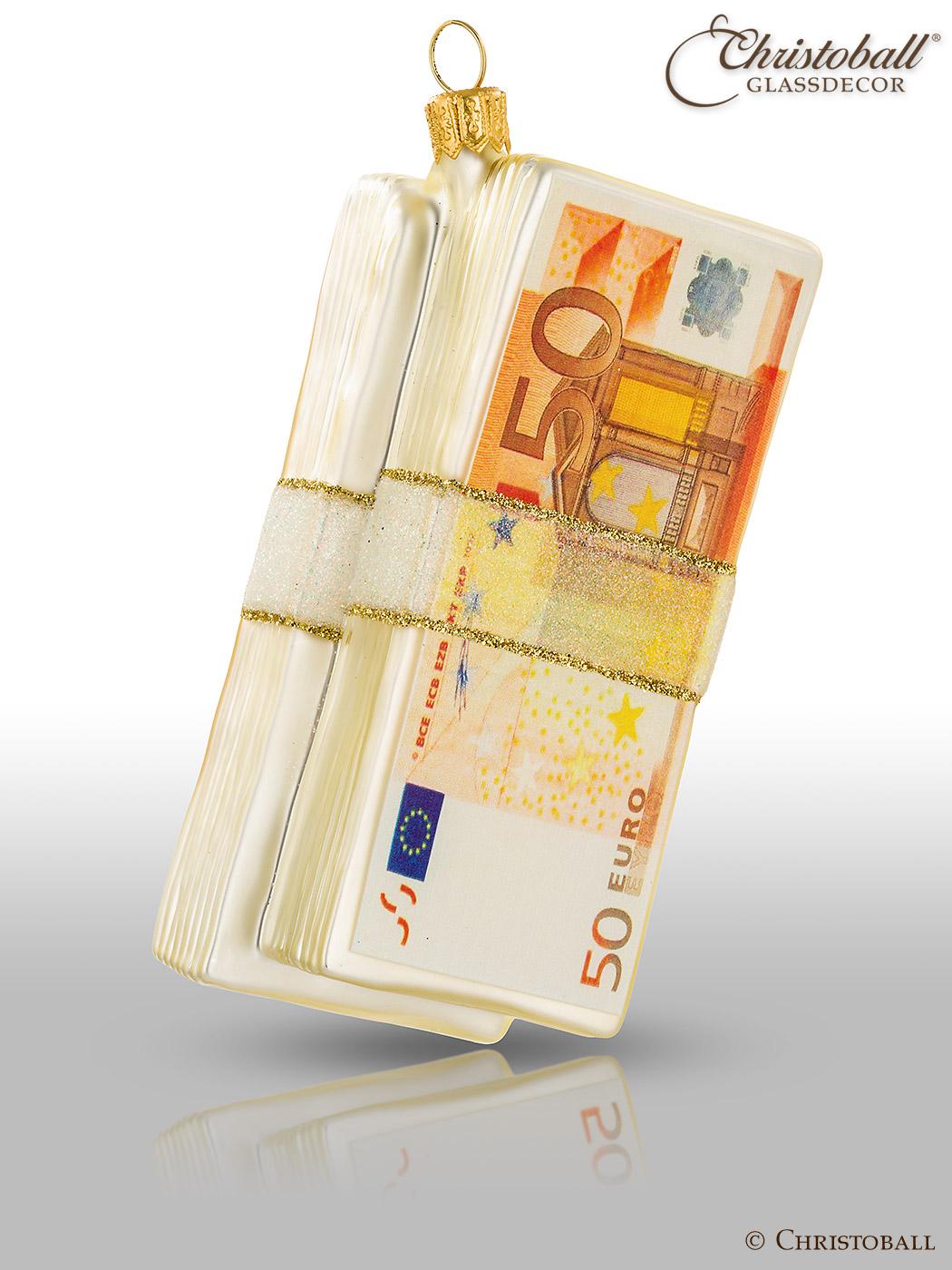 Weihnachtsform Geldscheinbündel