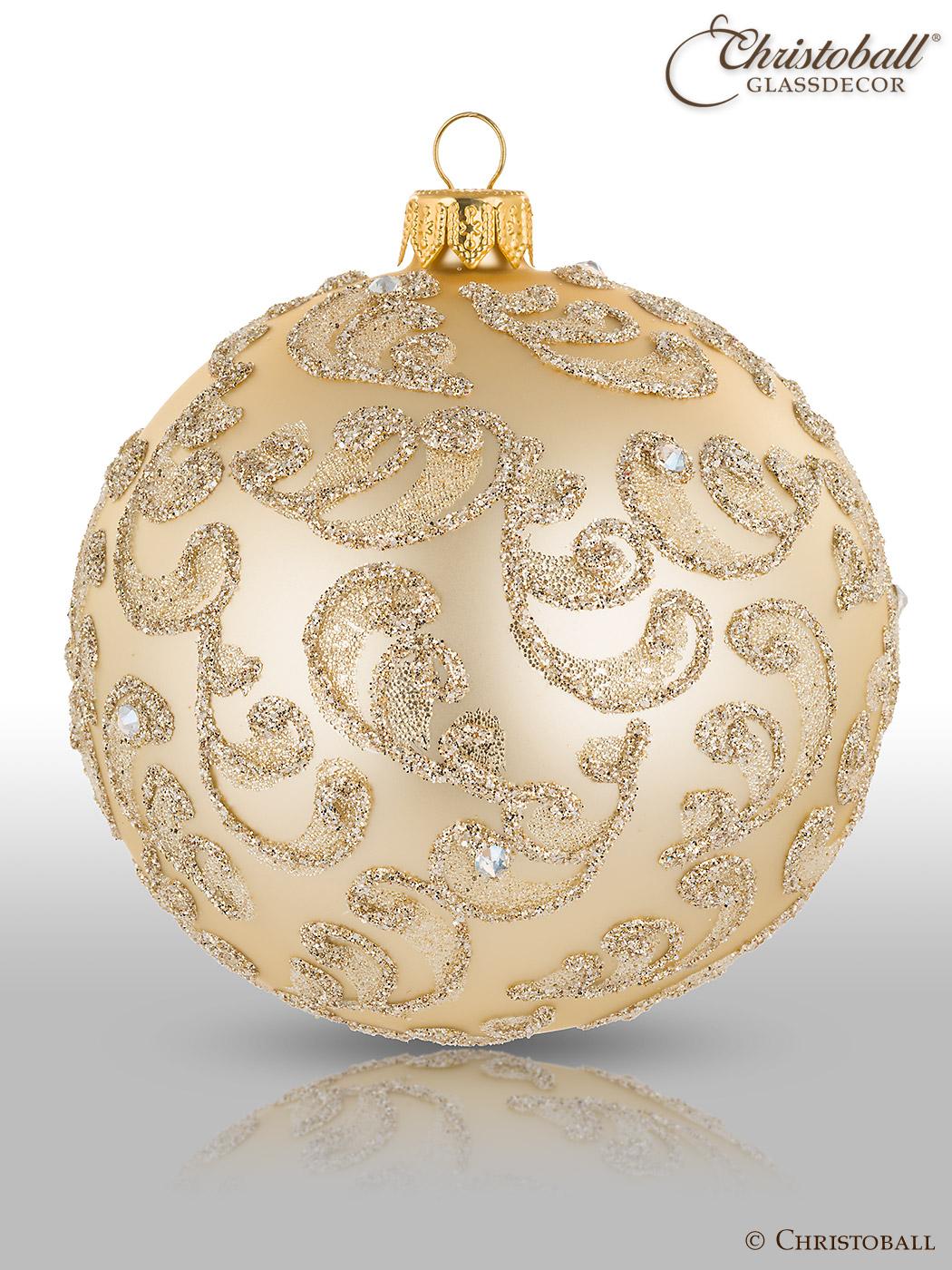 Weihnachtskugel Organza mit Swarovski-Kristallen